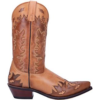Laredo Mens Nash Snip Toe Antique Tan Boots