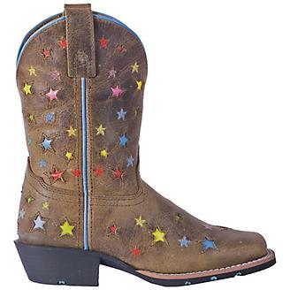 Dan Post Youth Starlett Sq Toe Brown Boots