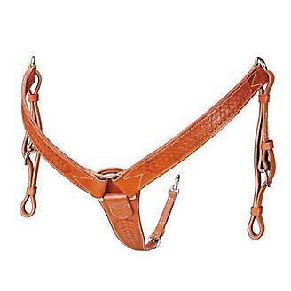 Colorado Saddlery 2in Mahog Basket Breast Collar