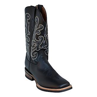 Ferrini Mens French Calf Sq Toe Black Boots
