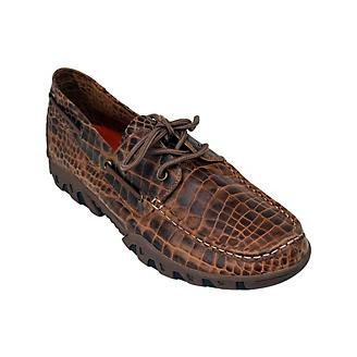 Ferrini Mens Print Belly Brown Loafers