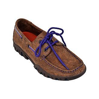 Ferrini Ladies Mocha/Purple Loafers