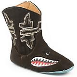 Tin Haul Kids Mini Shark Square Toe Boots