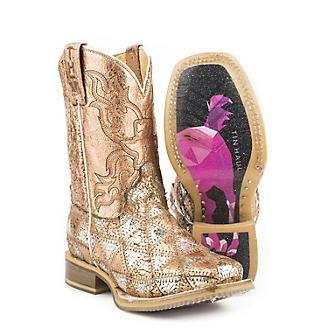 Tin Haul Little Kids Mish and Mash Sq Toe Boots