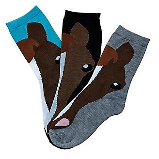 Horse Face Crew Socks 3-Pack