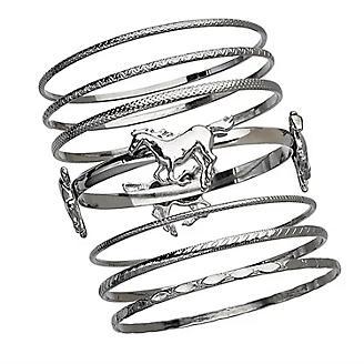 Bangles with Horse Bracelet Set of 7