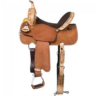 Royal King Reno Buck Stitch Barrel Saddle