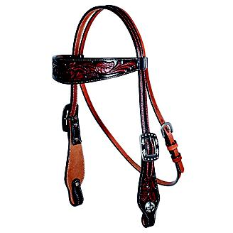 PC Collection Floral Browband Headstall