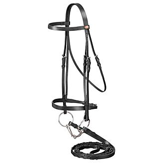 Silver Fox Laced Rein Snaffle Bridle