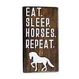 Eat Sleep Horses Repeat Shelf Sitter