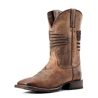 Ariat Mens Circuit Patriot Sq Toe Tan Boots