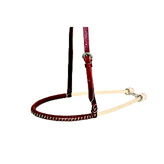 Wildfire 3/4in Rope Noseband w/Leather Cover