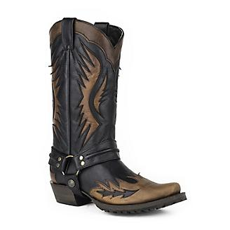 Stetson Mens Outlaw Laser Wings Brn Boots