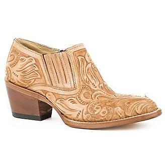 Stetson Ladies Rnd Toe Burnished Tan Boots