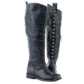 Stetson Ladies Snip Toe Over Knee Blk Boots