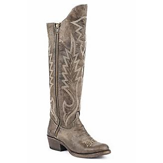 Stetson Ladies Coach Toe Green Camo Boots