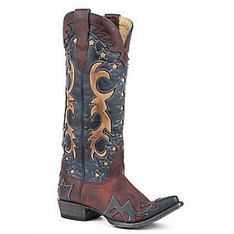 Stetson Ladies Fashion Toe Lava Red Boots