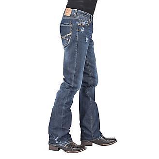 Stetson Mens Dark Wash w/Destruct X Jeans