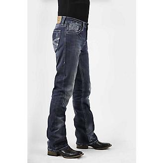 Stetson Mens Med Wash w/White X Jeans