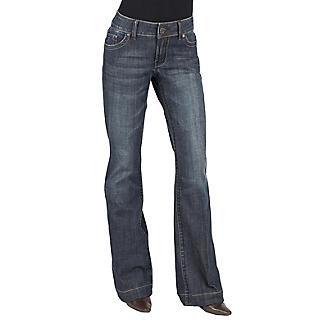 Stetson Ladies Blue Denim Trouser Jeans