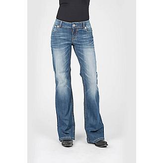 Stetson Ladies Diagonal Pieced Jeans