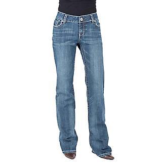 Stetson Ladies Chevron Back Pocket Jean