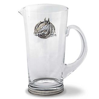 Vagabond House Equestrian Horseshoe Glass Pitcher