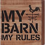 My Barn My Rules Natural Wood Sign