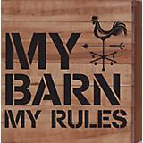 My Barn My Rules Natural Wood Sign