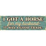 I Got a Horse Hand Crafted Sign