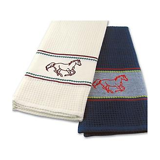 Horse Embroidery Kitchen Towel