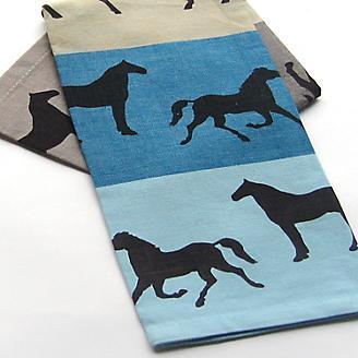 Equus Blue Kitchen Towel
