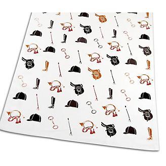 Equestrian White Kitchen Towel