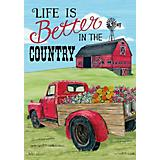 Better in the Country Mini 12x18 Flag