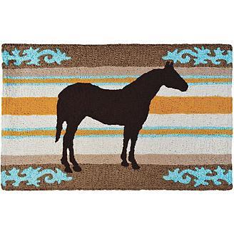 Jellybean Western Horse Accent Rug