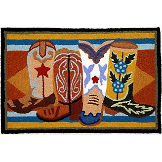 Jellybean Western Boots Accent Rug
