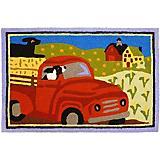 Jellybean Farm Truck Accent Rug