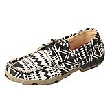 Twisted X Ladies Boat Shoe Blk/White Mocs
