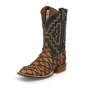 Tony Lama Mens Sq Toe Leviathan Choc Boots