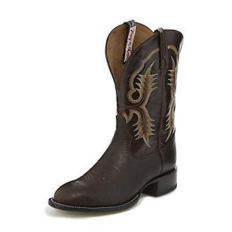 Tony Lama Mens Round Toe Vasco Brn Boots