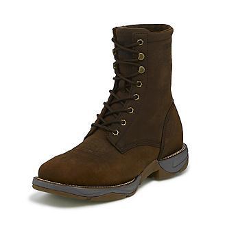 Tony Lama Mens Square Toe Tova Brown Boots