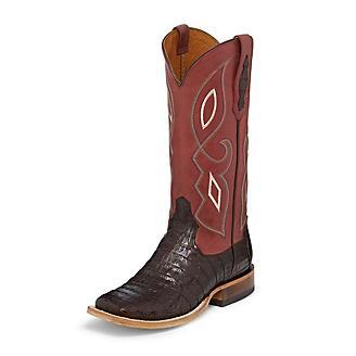 Tony Lama Ladies Sq Toe Leighton Brown Boots