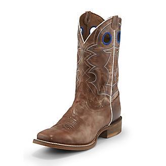 Nocona Mens Sq Toe Go Round Tan Boots