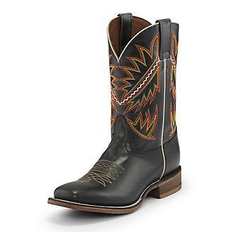 Nocona Mens Square Toe Deputy Black Boots