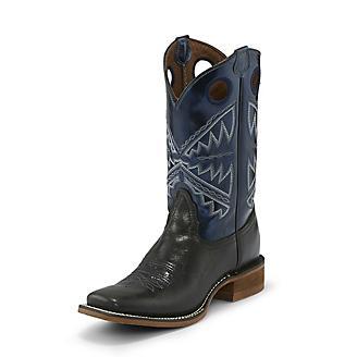 Nocona Ladies Sq Nadia Metallic Blue Boots