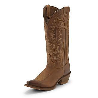 Nocona Ladies Snip Toe Etta Brown Boots
