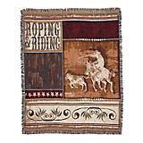 Roping and Riding 50x60 Throw Blanket