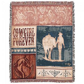 Cowgirl Forever 50x60 Throw Blanket