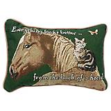 From the Back of a Horse 12x8 Throw Pillow