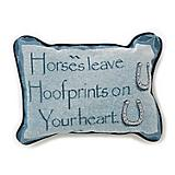 Horses Leave Hoofprints 12x8 Throw Pillow